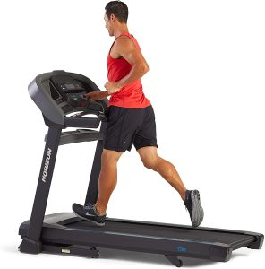 Horizon T101 Go Series Easy to use Treadmills running deck