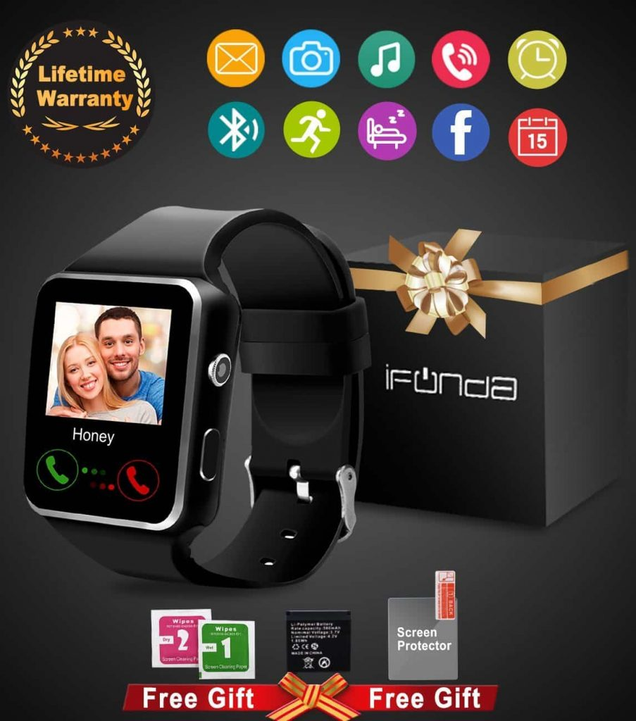 IfundaBluetooth Smart Watch With Camera, Touch Screen Sports Fitness Tracker