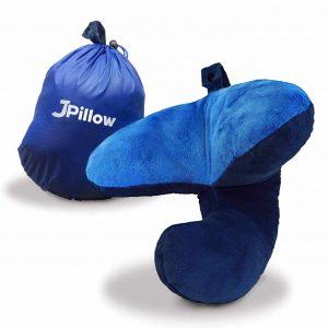 J-Pillow Travel Pillow + Carry Bag