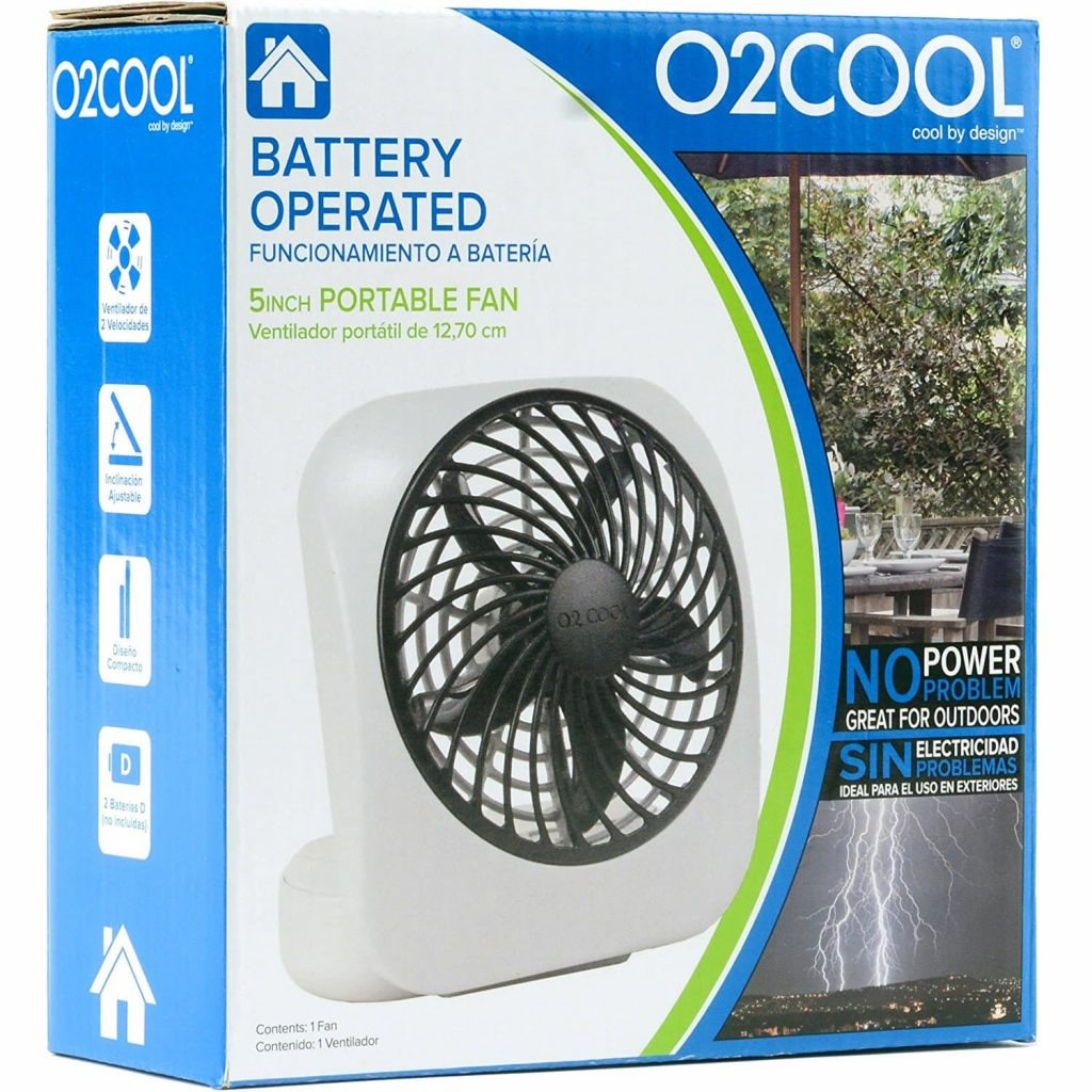 O2COOL 5 Inch Portable Fan