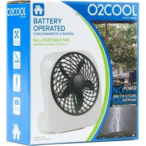 O2COOL 5 Inch Portable Fan
