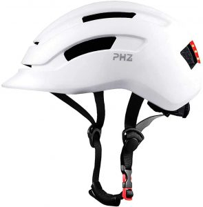 PHZ. Adult Urban Commuter Adjustable Bike Helmet with Rear Light