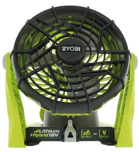 Ryobi P3320 Hybrid One+ Battery or AC Powered Shop Fan
