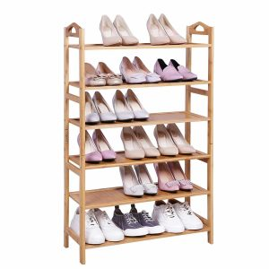 SONGMICS Multi-function 6-Tier Shoe Rack