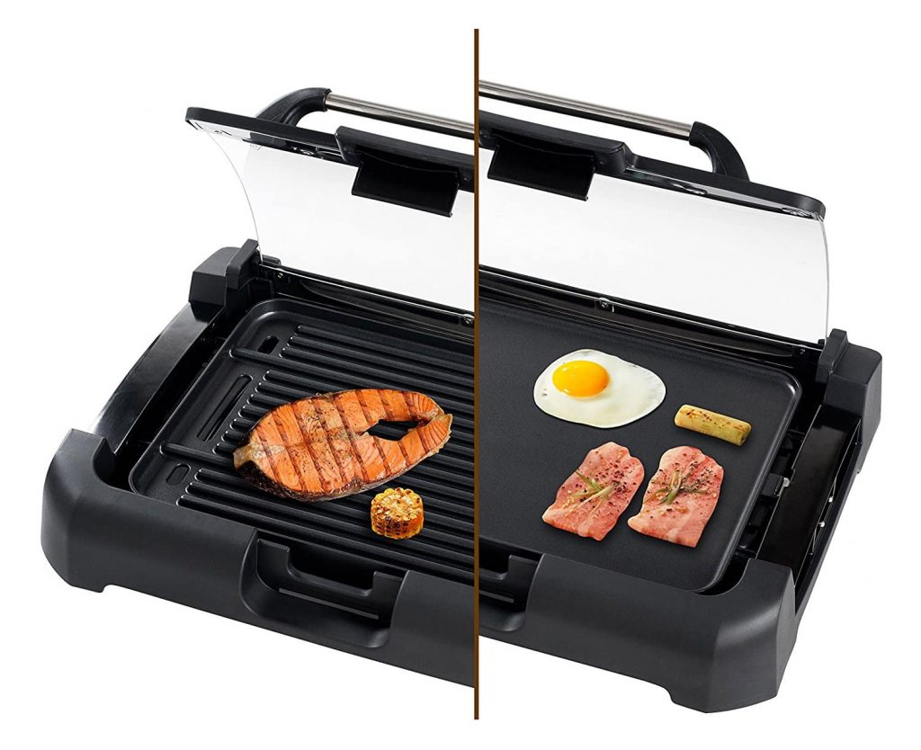 Secura 1700Watt Electric Reversible 2 in 1 Grill:Griddle