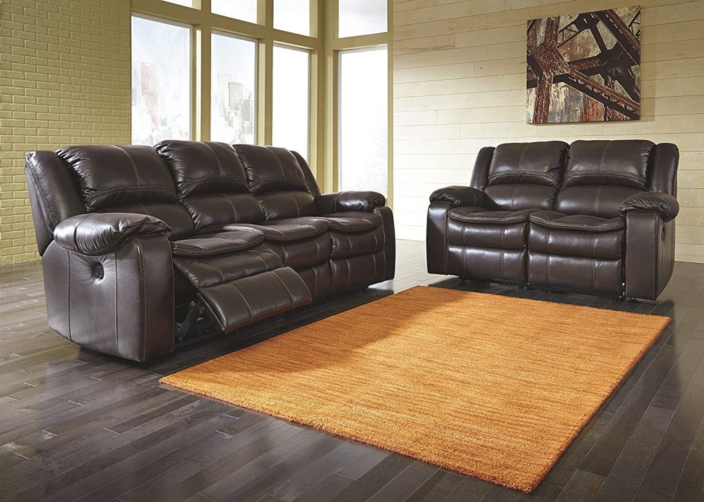 Superbe Signature Design By Ashley 8890587 Long Knight Collection Power Reclining  Sofa