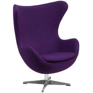 Streak Furniture Red Wool Fabric Egg Chair