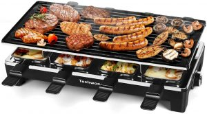 Techwood Raclette Grill Indoor/Outdoor - Temperature Control