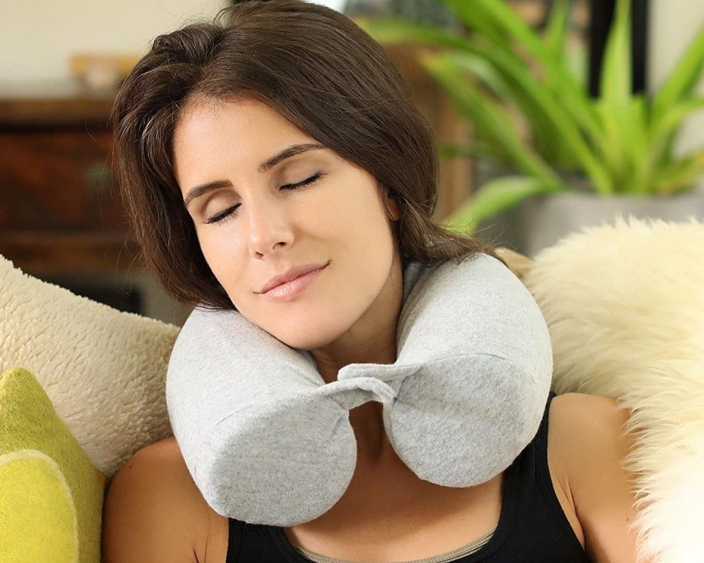 Twist Memory Foam Travel Pillow for Neck and Chin