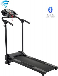 ZELUS Electric Foldable Treadmill with Cup Holder for Home Gym