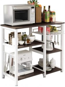 soges W5s-B 3-Tier Kitchen Storage Cart Baker's Rack