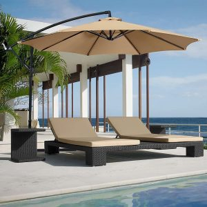 ATM adjustable Offset cantilever hanging Patio Umbrella