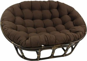 Blazing Needles Double Papasan Chair, Toffee