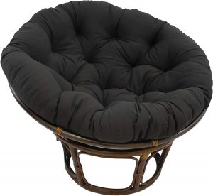 Blazing Needles Solid Papasan Chair, Black
