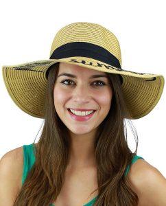 C.C Women's Paper Weaved Floppy Hat