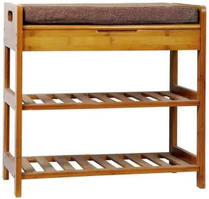 C&AHOME 3-Tier Shoe Rack Bench