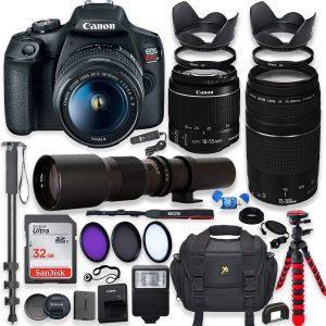 Canon EOS Rebel T7 DSLR Camera w/accessory bundle