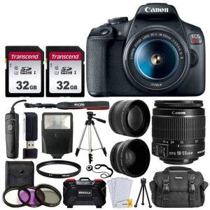 Canon EOS Rebel T7 Digital SLR Camera w/accessory bundle