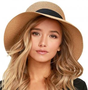 FURTALK Women's Beach Sun Straw Hat
