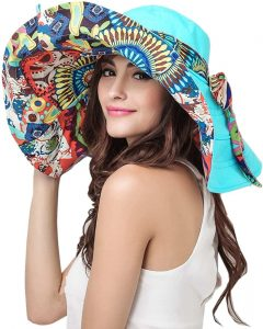 FakeFace Women's Floppy Reversible Hat