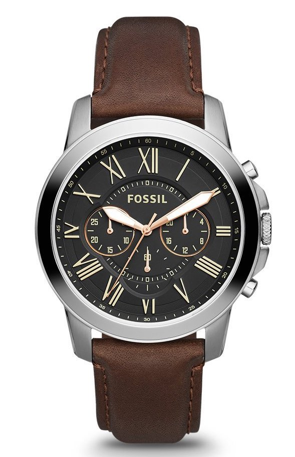 Fossil FS4813 Leather Watch