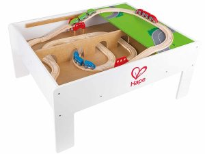 Hape Railway Play and Stow Storage and Activity Table