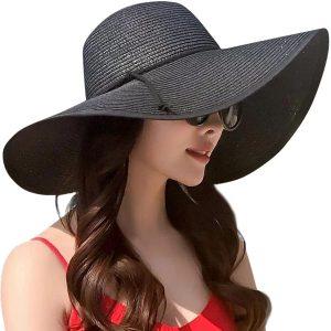 JOYEBUY Women Bowknot Straw Hat