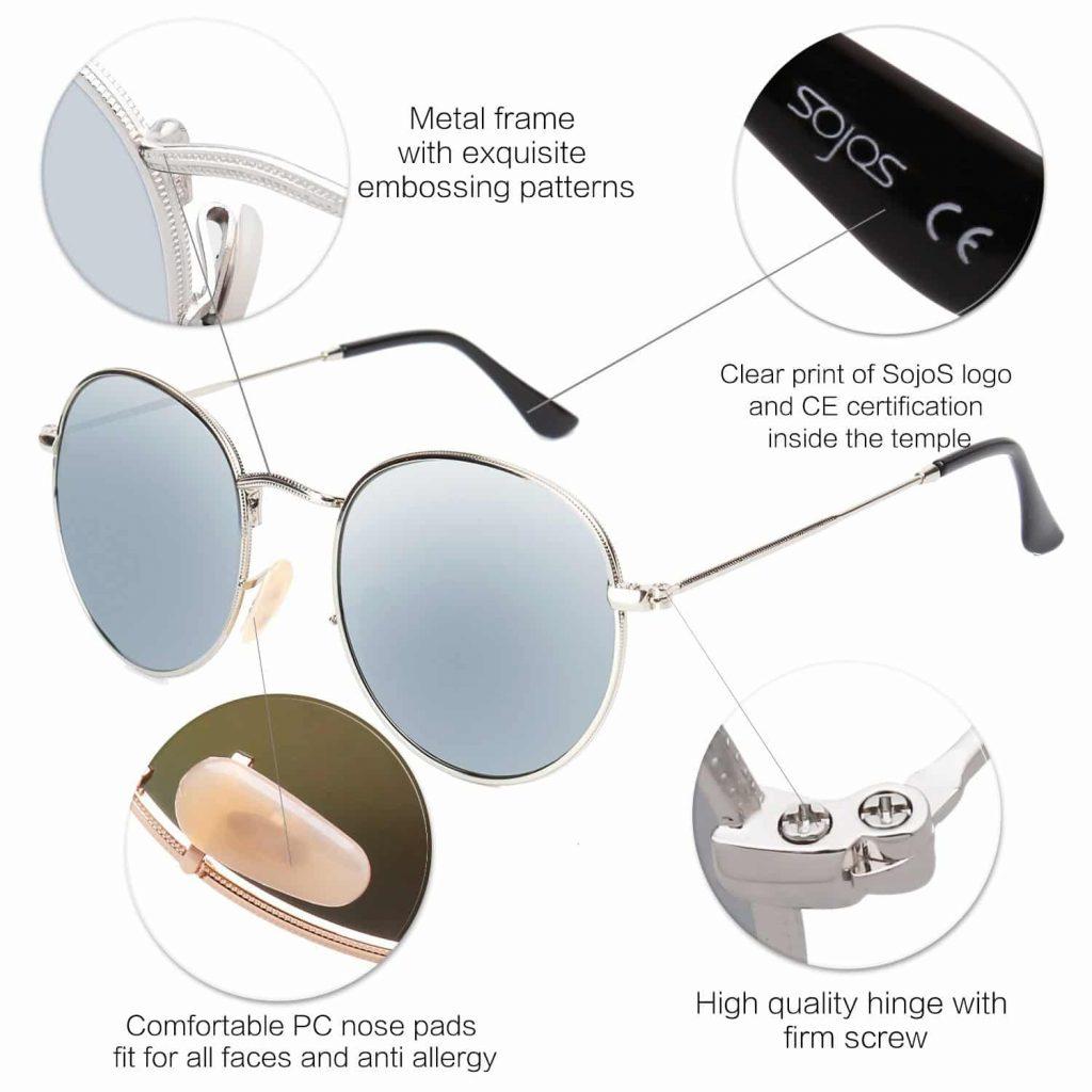 Mirrored Lens Unisex Glasses SJ1014 3447