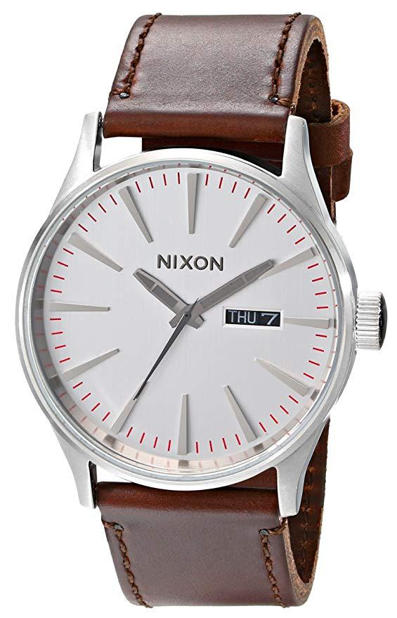 Nixon A105 Leather Watch