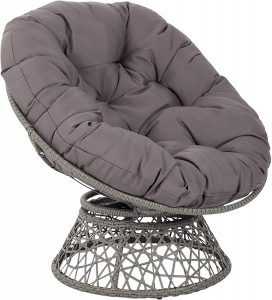 OSP Designs Papasan Chair, Grey