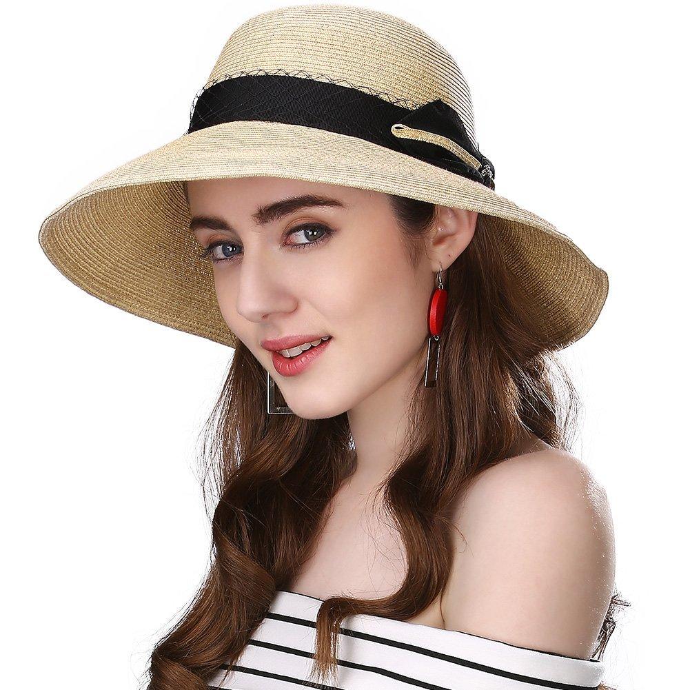 SiggiHat Packable UPF Straw Sunhat Women