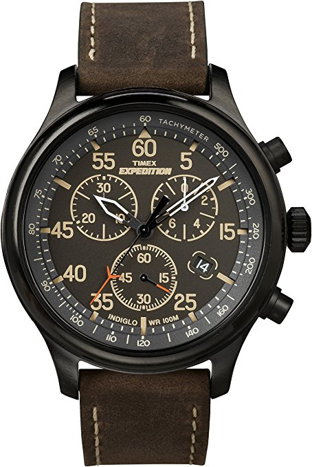 Timex T49905 Leather Watch
