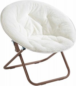 Urban Shop Faux Saucer Chair - One Size, White