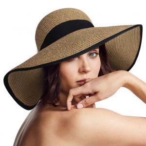 Womens Sun Hat Foldable Floppy Travel Floppy hat