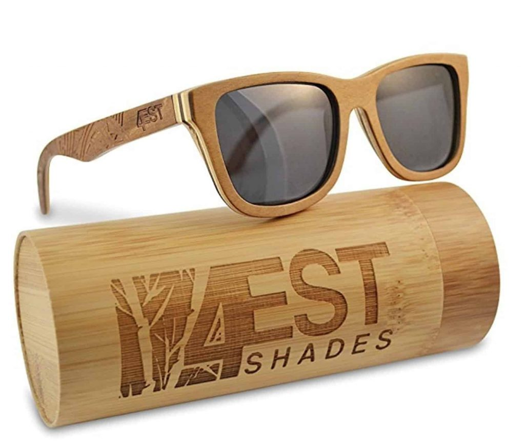 Wood Sunglasses made from Maple -100% polarized lenses