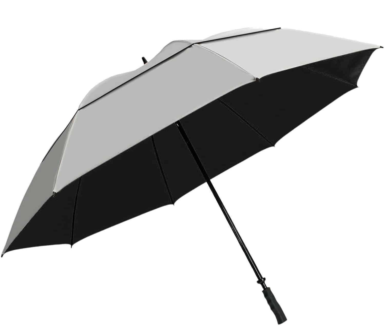 UVDAY Auto Open Close UV Protection Travel Compact Folding Sun Umbrella UPF50+ 23 inches, Black