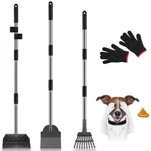 MOICO Dog Pooper Scooper with an Adjustable Long Handle