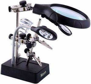 Neon 2.5X 7.5X 10X LED Light Magnifier & Desk Lamp
