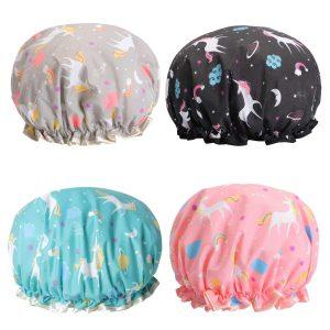 TBESTMAX Unicorn Shower Caps for Women