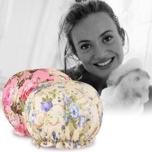 TBestMax Flower Shower Caps for Women and Girl
