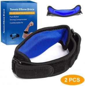 Tennis Elbow Brace for Elbow Tendonitis (2 PCS)