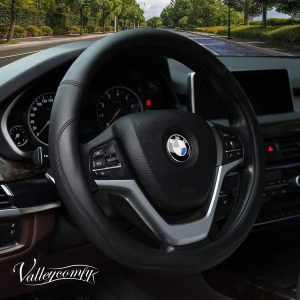 Valleycomfy Microfiber Leather Steering Wheel Covers
