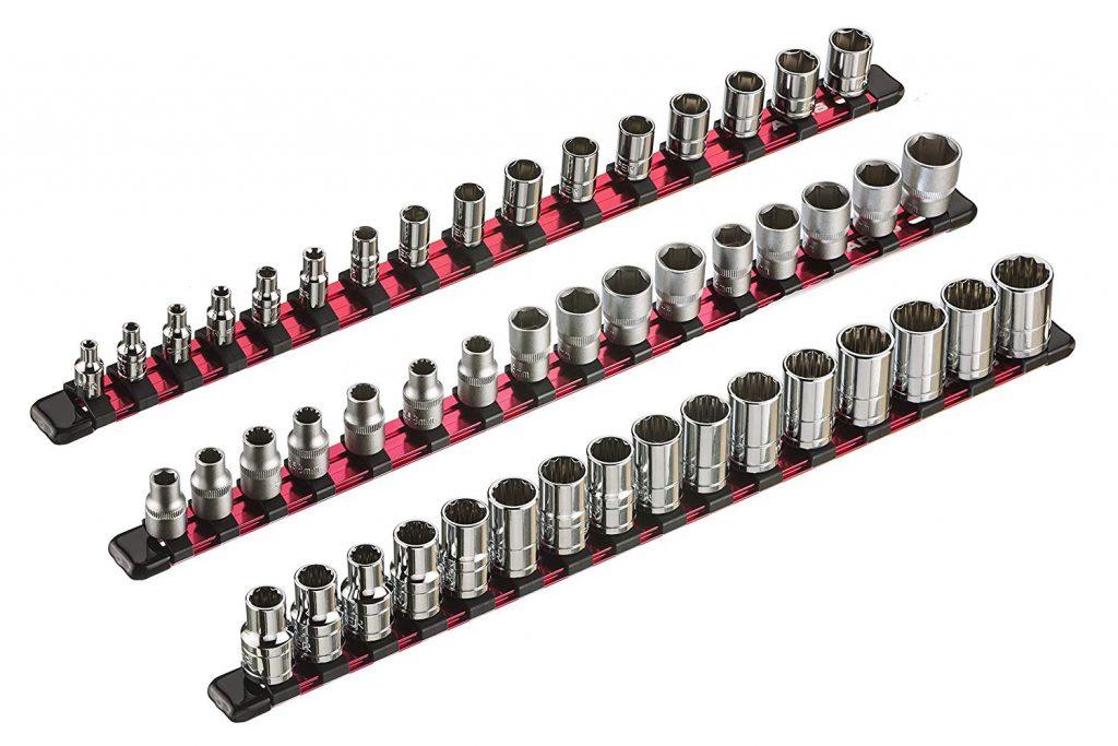 ARES 70204 Aluminum Socket Organizer, 3-Piece
