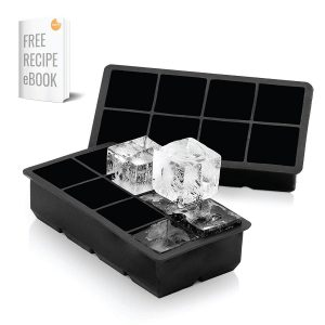 Arctic Chill 2 Inch Silicone Ice Cube Trays Set of Two