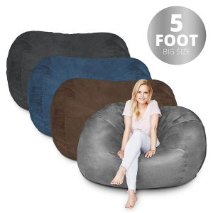 Bean Bag Chair | 5 Foot & Dark Grey