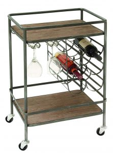Deco 79 48673 Winerack metal and wood