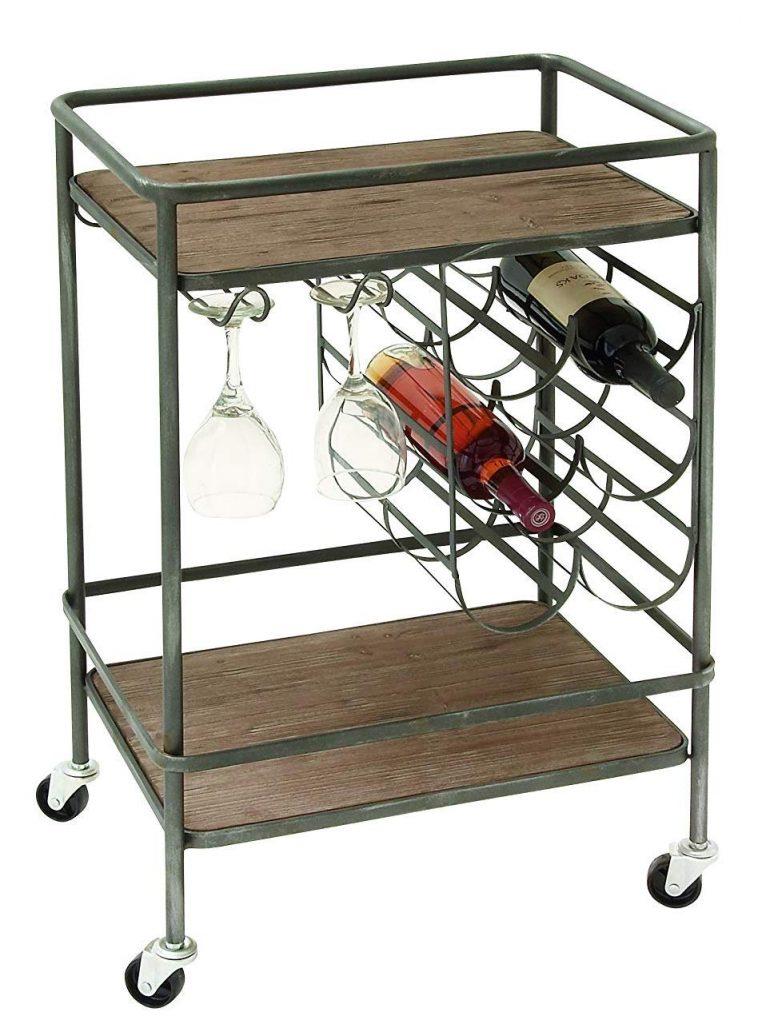 Deco 79 48673 Winerack metal and wood