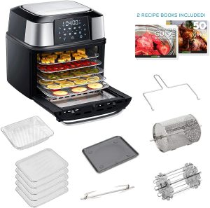 GoWISE USA Dehydrator & Air Fryer with 5 Drying Trays