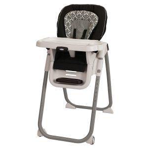 Graco TableFit Baby High Chair, Black/White