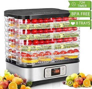 Homdox Food Dehydrator Machine with a Digital Timer & Temperature Control